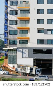 Gosford, New South Wales, Australia - March 8, 2019: Construction and building progress on new home units at 47 Beane St. Update 213.