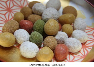 Goshikimame.The snack at which peanuts entered in the inside. The traditional snack eaten as child's snack from the past in Japan.