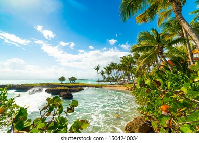 Gosier shore in Guadeloupe, French west indies. Lesser Antilles, Caribbean sea