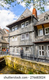 GOSLAR, GERMANY - MAY 4, 2015: House in the historic Town of Goslar. Goslar Historic Town is a UNESCO World Heritage site