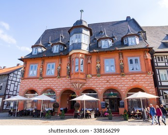GOSLAR, GERMANY - SEP 9: The Kaiserworth Hotel on the Marktplatz in Goslar, Germany on September 9, 2013. Goslar is a historic town in Lower Saxony, Germany.