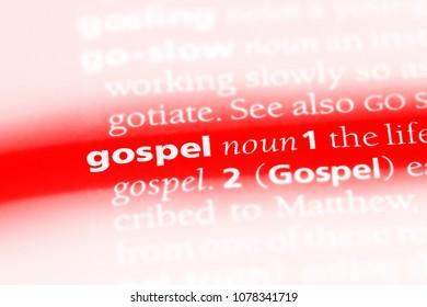 gospel word in a dictionary. gospel concept