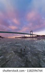 Gota alvs bridge in Gothenburg