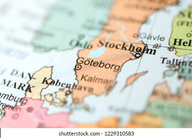 Goteborg. Europe on a geography map