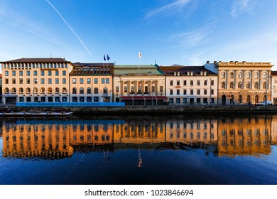 Goteborg, Sweden: September 8th 2015:  Typical buildings at Goteborg City, Sweden with reflections