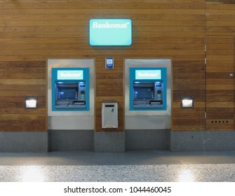 GOTEBURG, SWEDEN - CIRCA AUGUST 2017: Bankomat ATM cash machines