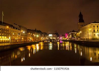 Gothenburg city night view