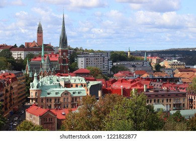 Gothenburg city in Sweden. Skyline with Olivedal district.