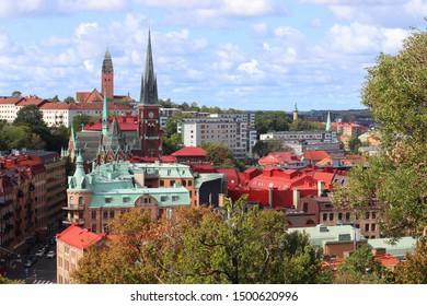 Gothenburg city in Sweden. Skyline with Olivedal district.