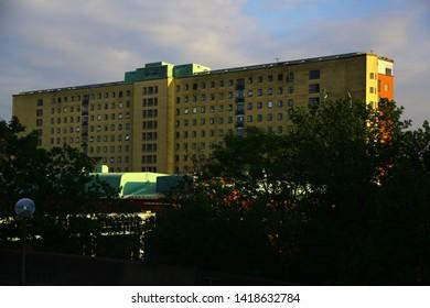 Gothenburg, Västra Götalands County/Sweden - 06 07 2019: Sahlgrenska university hospital, Sahlgrenska akademin and Odontologen at Medicinarberget in Gothenburg