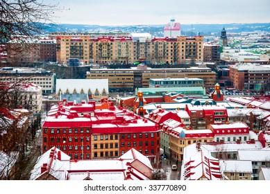 Gothenburg skyline in winter, Sweden