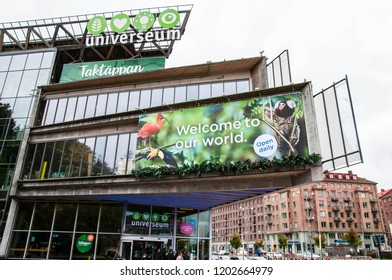 Gothenburg, Sweden, 07.10.2017: Entrance of the Universum Zoo in Gothenburg, Sweden.