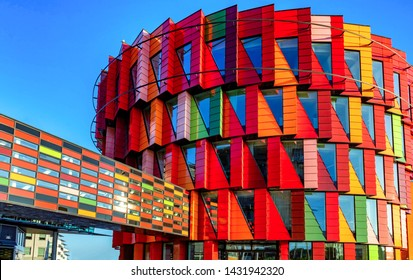 GOTHENBURG - SWEDEN 20. JULY 2018- Colorful modern arcitecture of the Chalmers technical university, Gothenburg, Sweden