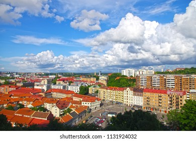 Gothenburg, Sweden - 21 April 2018 - Top view of Gothenburg city.
