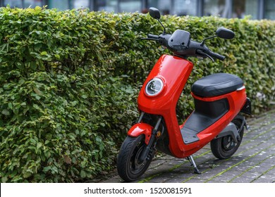 Gothenburg, Sweden - 9th September, 2019 : NIU is new brand of Electric Scooter Model is M+ parked near Lindholmen where many offices located in Gothenburg