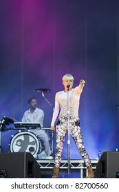 GOTHENBURG, SWEDEN - AUGUST 12: Singer Robyn performs at the Way Out West festival on August 12, 2011 in Gothenburg, Sweden