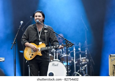 GOTHENBURG, SWEDEN - AUGUST 13: British R'n'B singer Jamie Woon performs at the Way Out West festival on August 13, 2011 in Gothenburg, Sweden