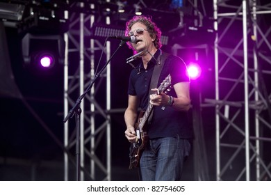 GOTHENBURG, SWEDEN - AUGUST 13: Gary Louris of The Jayhawks performs at the Way Out West festival on August 13, 2011 in Gothenburg, Sweden. The festival was sold out with over 30 000 attendants