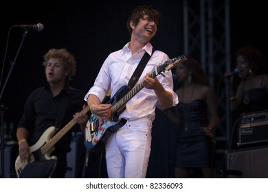 GOTHENBURG, SWEDEN - AUGUST 14: Timo Räisänen performs onstage at the Way Out West festival August 14, 2009 in Gothenburg, Sweden