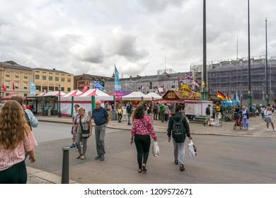 Gothenburg, Sweden - August 15, 2018: Gothenburg Culture Festival 2018