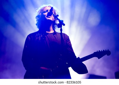 GOTHENBURG, SWEDEN - AUGUST 15: Kevin Shields of My Bloody Valentine performs onstage at the Way Out West festival August 15, 2009 in Gothenburg, Sweden