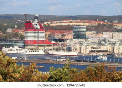GOTHENBURG, SWEDEN - AUGUST 26, 2018: City skyline view with Lappstiftet bulding in Gothenburg, Sweden. Gothenburg is the 2nd largest city in Sweden.