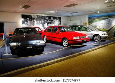 Gothenburg, Sweden - August 8, 2018 - Volvo Museum located in the Arendal neighborhood on Hisingen island near Gothenburg