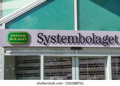 "Gothenburg - Sweden. Circa Mars, 2019:   Goverment owned alcohol store named ""Systembolaget"" has closed on sundays."