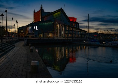 Gothenburg - Sweden. Circa November, 2018: Gothenburg Opera House is well visited for entertainments like: musicals, dance shows etc.
