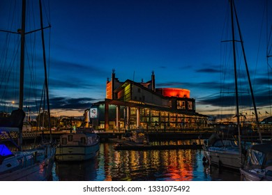 Gothenburg - SWeden. Circa November, 2018: Gothenburg Opera House close to the river is a popular visit for entertainment.