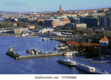 Gothenburg - Sweden. February 3, 2016: A city view over an active city