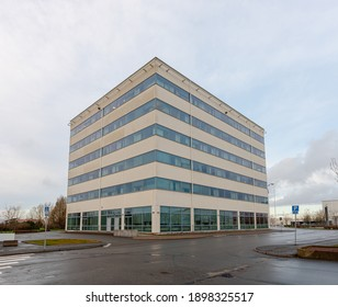 Gothenburg, Sweden - January 10 2021: Exterior of a six storey office building at Arendal