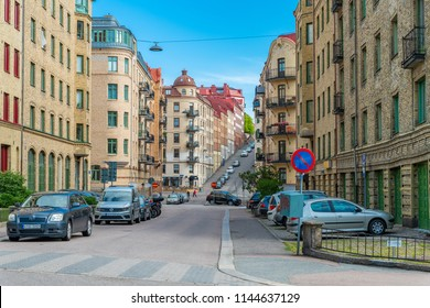 GOTHENBURG, SWEDEN - July 10, 2018 : Certain part of Gothenburg city in early morning