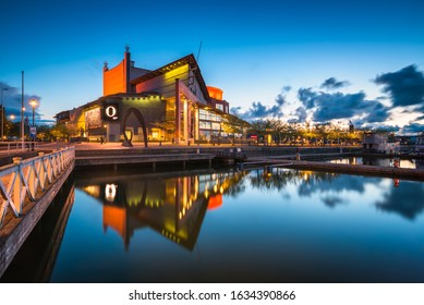 Gothenburg, Sweden - May 06 2019. The Gothenburg Opera photographed during the blue hour.