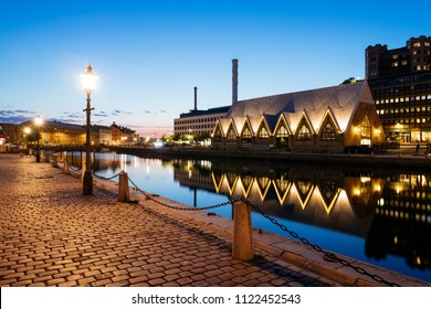 GOTHENBURG, SWEDEN - May 14, 2018: Feskekorka (Fish church) is an fish market in Gothenburg, Sweden
