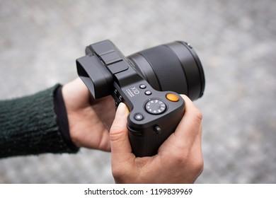 GOTHENBURG, SWEDEN - OCTOBER 11, 2018: Latest version of HASSELBLAD X1D-50C 4116 EDITION digital medium format mirrorless camera with 45mm lens