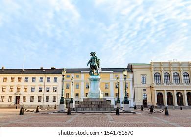 Gothenburg, Sweden. Statue of King Gustav II Adolf - established in 1854