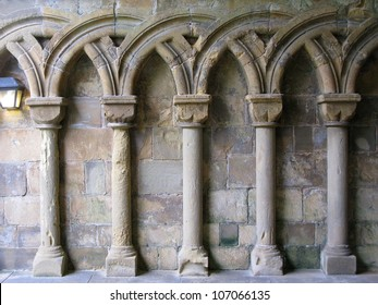 Gothic Arches in limestone