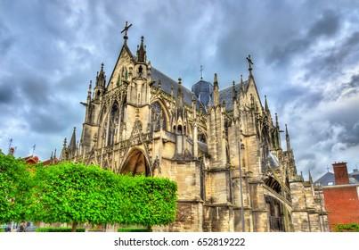 Gothic Basilica Saint Urbain of Troyes - France, Aube