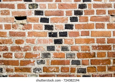 Gothic Black Crossing Brick Wall