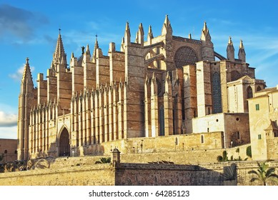 Gothic cathedral of PAlma de Mallorca (Balraric Islands - Spain)