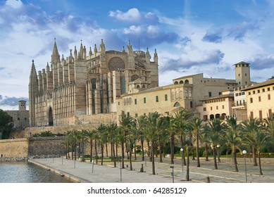 Gothic cathedral in Palma de Mallorca (Balearic Islands - Spain)