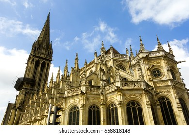 Gothic cathedral in Vernon (France)