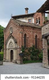 Gothic church. Grazzano Visconti. Emilia-Romagna. Italy.