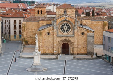Gothic church in the historic center of Avila, Spain