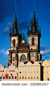 The gothic church of Our Lady before Tyn, the Old Town of Prague