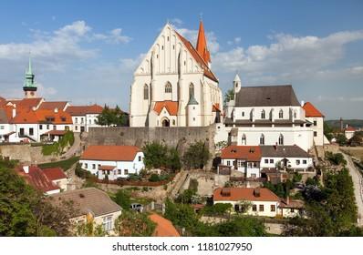 Gothic Church of St. Nicholas in czech Kostel svateho Mikulase, Znojmo, South Moravia, Czech Republic