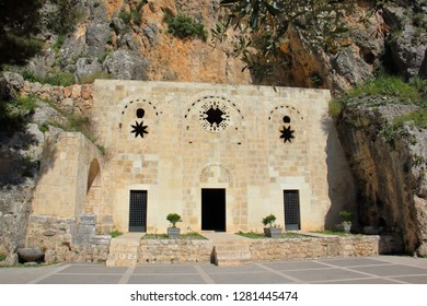 The Gothic Facade of Saint Pierre Church which is admitted as the first cathedral of the world and was announced as a place of pilgrimage by the Pope in Antakya region of Hatay province.