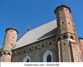 Gothic fortified church. Church of St. Michael in Synkovichi