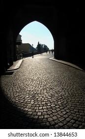 Gothic Gate of Bridge Tower, Charles Bridge, Prague, Czech republic